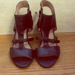 Miz Mooz black block heel sandals